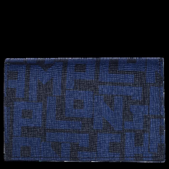 컴팩트 지갑, 블랙 / 네이비 - 1 이미지 보기 2.0 - 확대하기
