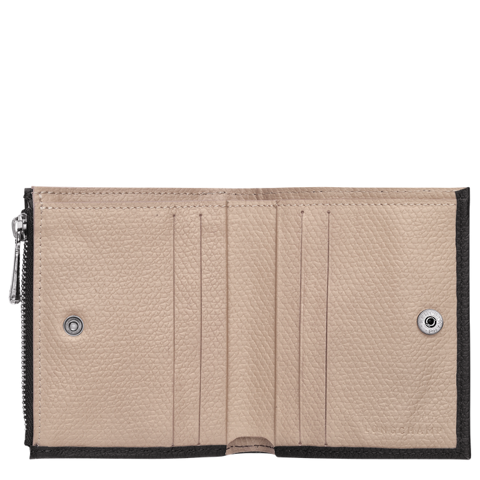 Roseau Brieftasche im Kompaktformat, Schwarz