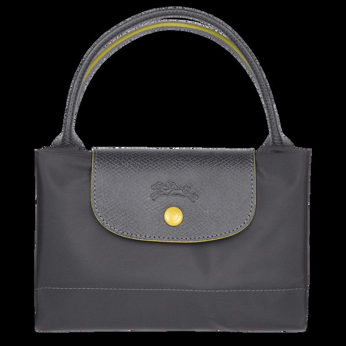 Le Pliage Club Handtasche M, Metallgrau
