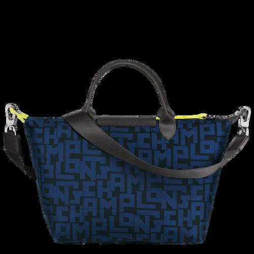 Le Pliage LGP Top handle bag M, Black/Navy