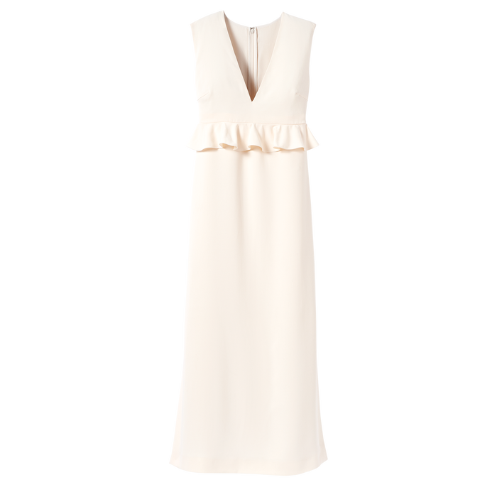 Fall-Winter 2021 Collection Long Dress, Ivory
