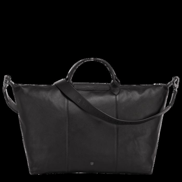 Le Pliage Cuir Travel bag L, Black