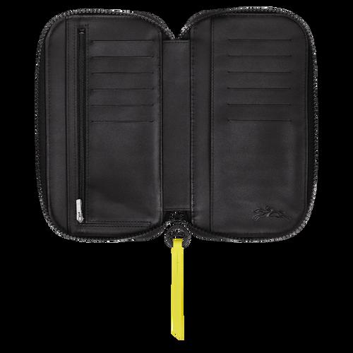 Long zip around wallet, Black/White, hi-res - View 2 of 3