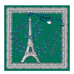 Silk Scarf, D91 Emerald, hi-res