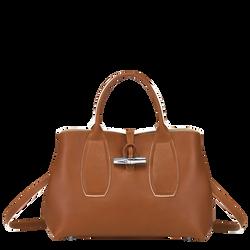 Top handle bag M, Cognac, hi-res