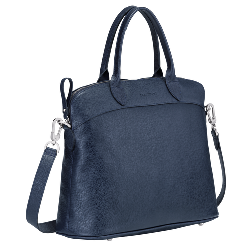 Top handle bag M, Navy - View 2 of  3 -