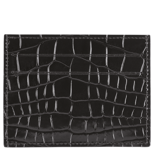 Le Pliage Cuir Card holder, Black