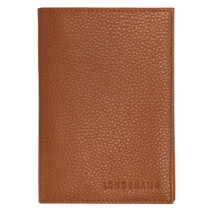 Passport cover, Caramel, hi-res - View 1 of 2