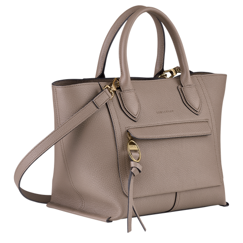 Top handle bag M, Taupe - View 2 of  4 -