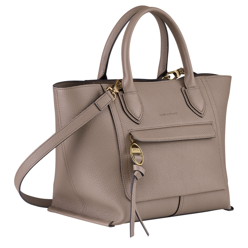 Top handle bag M, Taupe - View 2 of  4 - zoom in