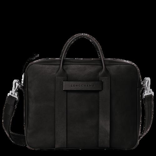 Briefcase M, Black, hi-res - View 1 of 3