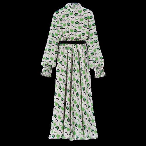 Robe longue, Ecaille Verte - Vue 1 de 1 -