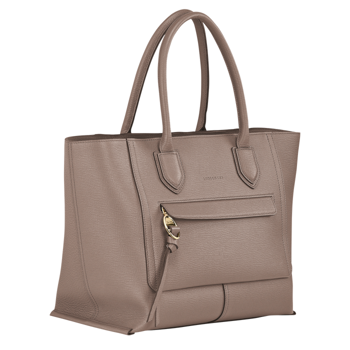 Top handle bag L, Taupe - View 2 of 4 - zoom in