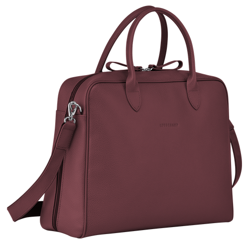 Briefcase M, Mahogany - View 2 of 3 -