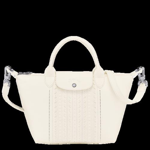 Top handle bag S Le Pliage Cuir Ivory (L1512HVB238) | Longchamp US