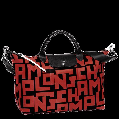 View 1 of 手袋 L, 黑色/磚紅色, hi-res