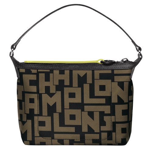 Clutch, Black/Khaki, hi-res - View 3 of 3