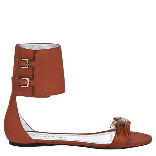 Flat sandals, 504 Cognac, hi-res