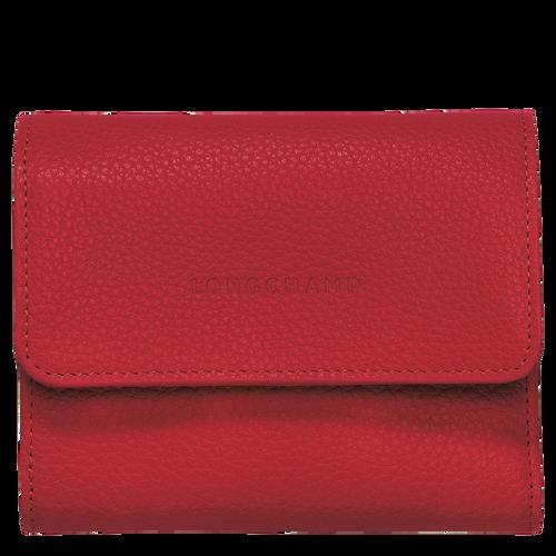 Compact wallet Le Foulonné Red (30000021545) | Longchamp US