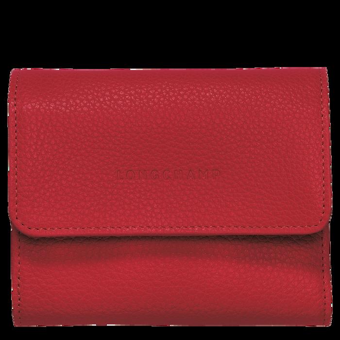 Le Foulonné Compact wallet, Red