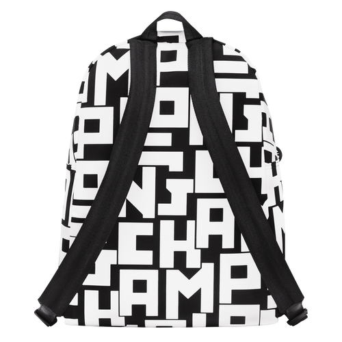 Backpack M, Black/White, hi-res - View 3 of 4