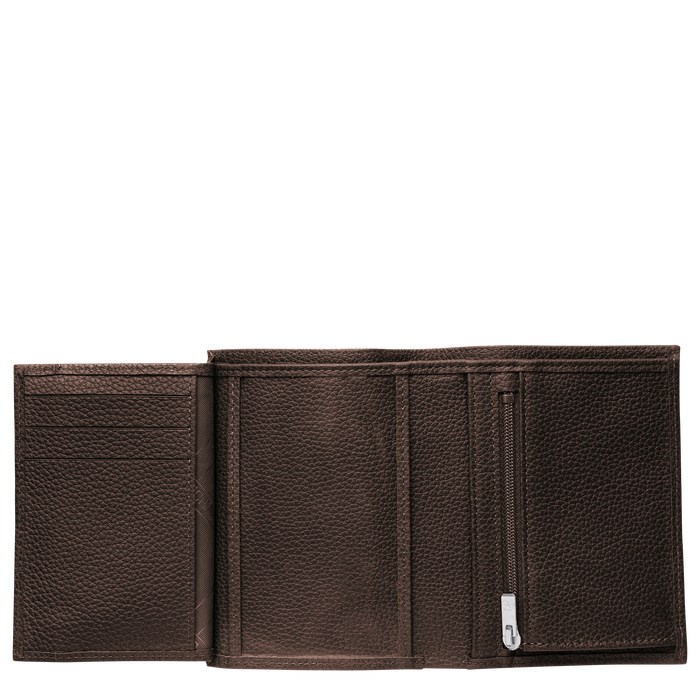 Le Foulonné Wallet, Mocha