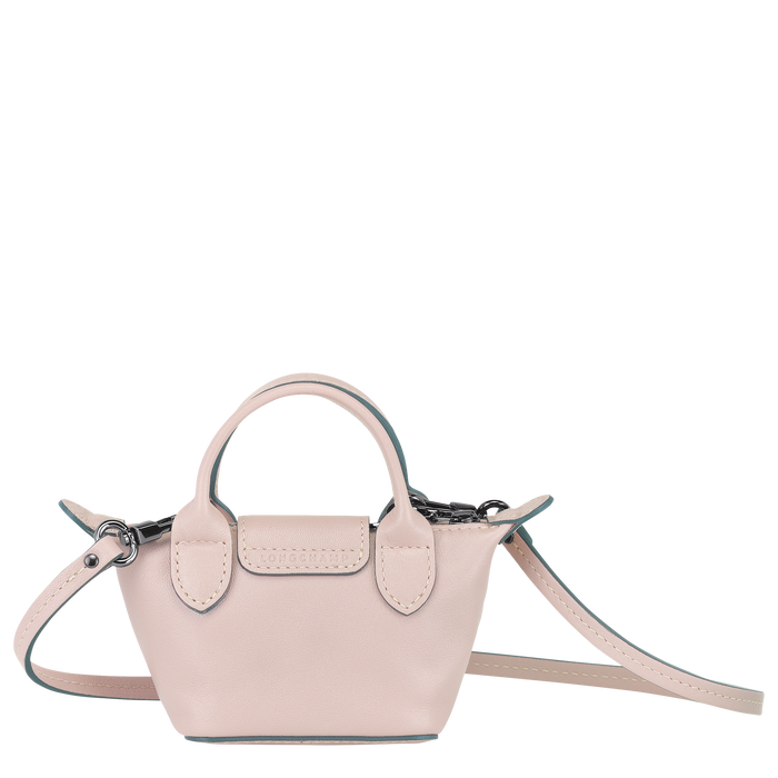 Le Pliage Cuir Crossbody bag XS, Pale pink
