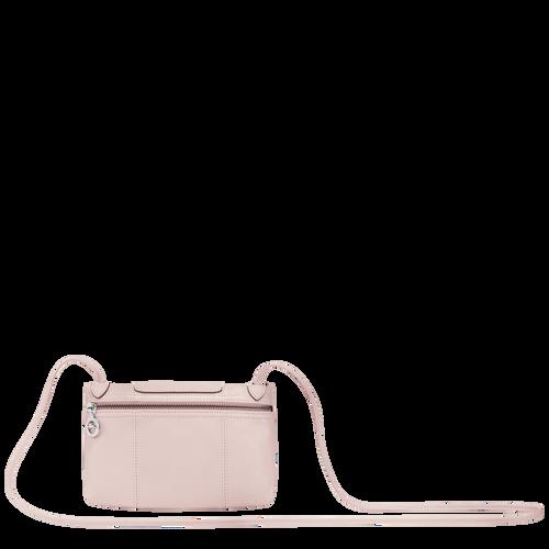 Le Pliage Cuir Crossbody bag, Pale pink