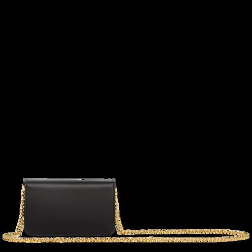 Mademoiselle Longchamp Wallet on chain, Black