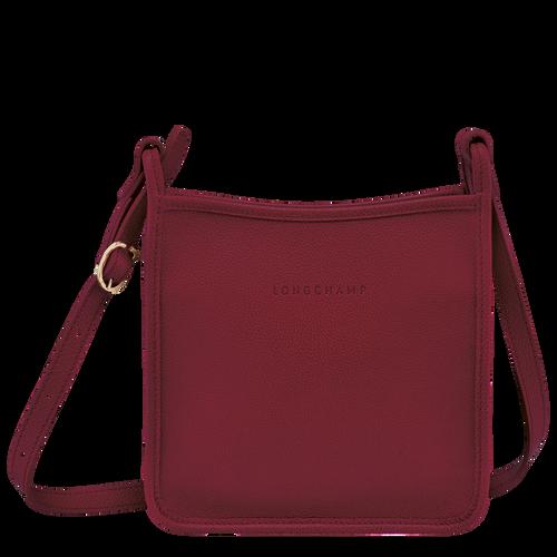 Le Foulonné 系列 拉鏈斜背包小型, 紅色