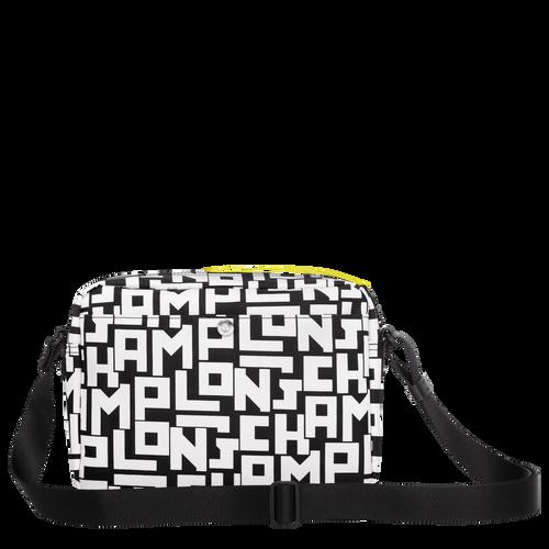 Crossbody bag M, Black/White, hi-res - View 3 of 4