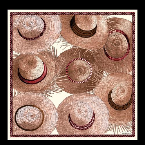 Silk scarf, P03 Pink, hi-res