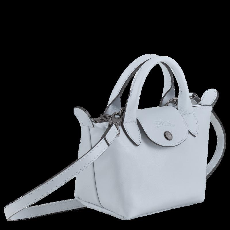 Le Pliage Cuir Top handle bag XS, Sky Blue