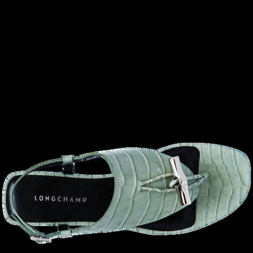 Spring-Summer 2021 Collection Flat sandals, Jade