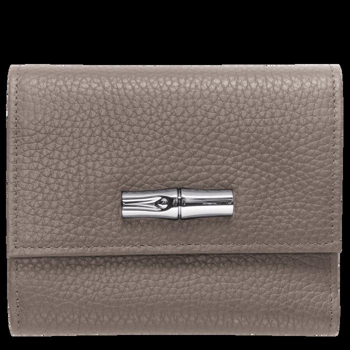 Brieftasche im Kompaktformat, Grau - Ansicht 1 von 2 - Zoom vergrößern