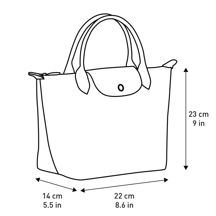 Top handle bag S, Longchamp Green - View 5 of 5 - zoom in