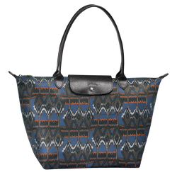 Ikat Tote bag L, 006 Navy, hi-res
