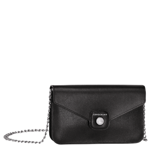 View 1 of Wallet on chain, Black, hi-res