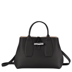 Top handle bag M, Black, hi-res