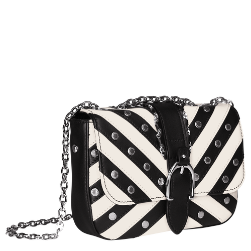 View 2 of Hobo bag XS, 067 Black/White, hi-res