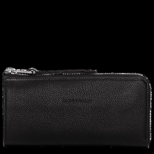 Langformat Brieftasche mit Reissverschluss, Schwarz, hi-res - View 1 of 2