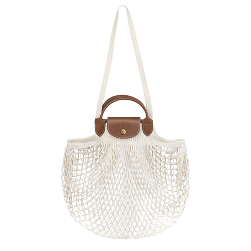 Le Pliage filet Handtasche, Ecru