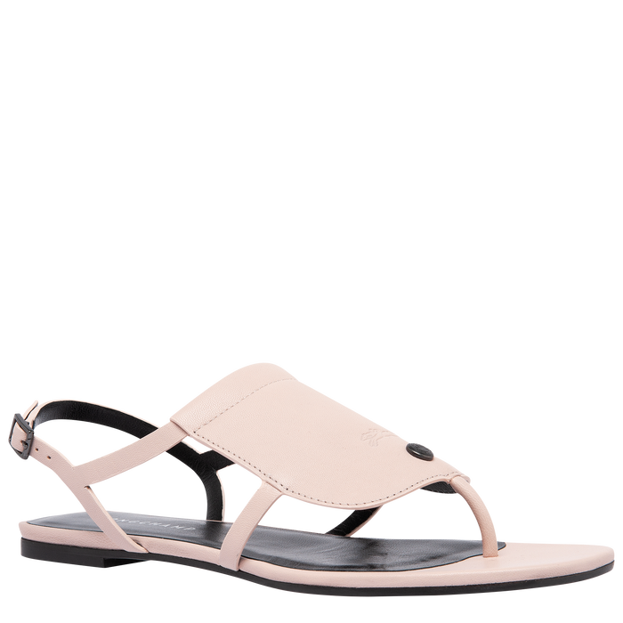 Flat sandals, Pale Pink - View 2 of  3 - zoom in