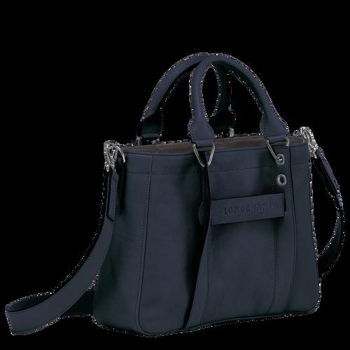 Longchamp 3D 탑 핸들백 S, 미드나잇 블루