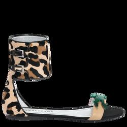 Flat sandals, 640 Black/Camel, hi-res