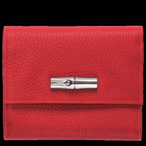 Portefeuille compact, Rouge, hi-res - Vue 1 de 2