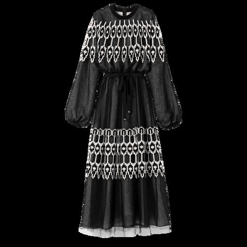 Robe longue, Noir/Ivoire - Vue 1 de 1 -