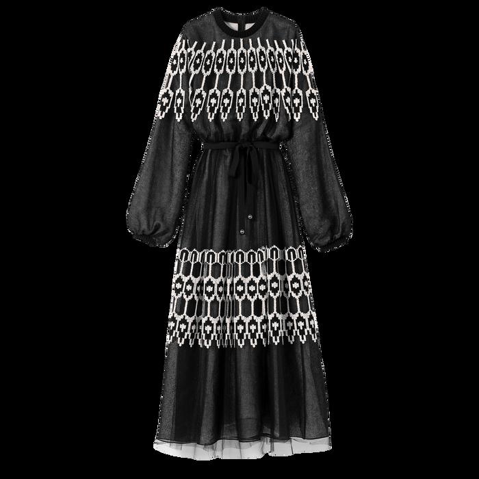 Robe longue, Noir/Ivoire - Vue 1 de 1 - agrandir le zoom