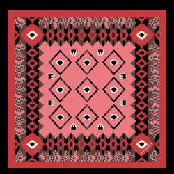 Pañuelo de seda, 589 Coral, hi-res