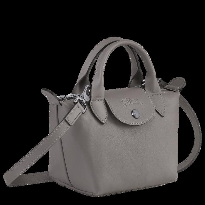 Le Pliage Cuir Top handle bag XS, Turtledove
